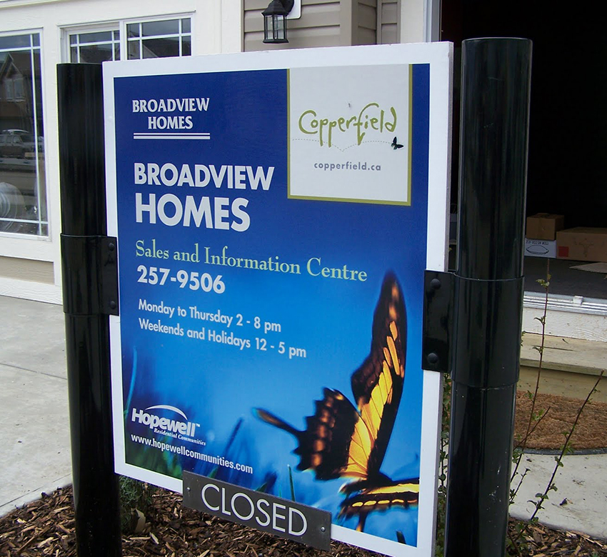 Broadview Showhome Outdoor Sign