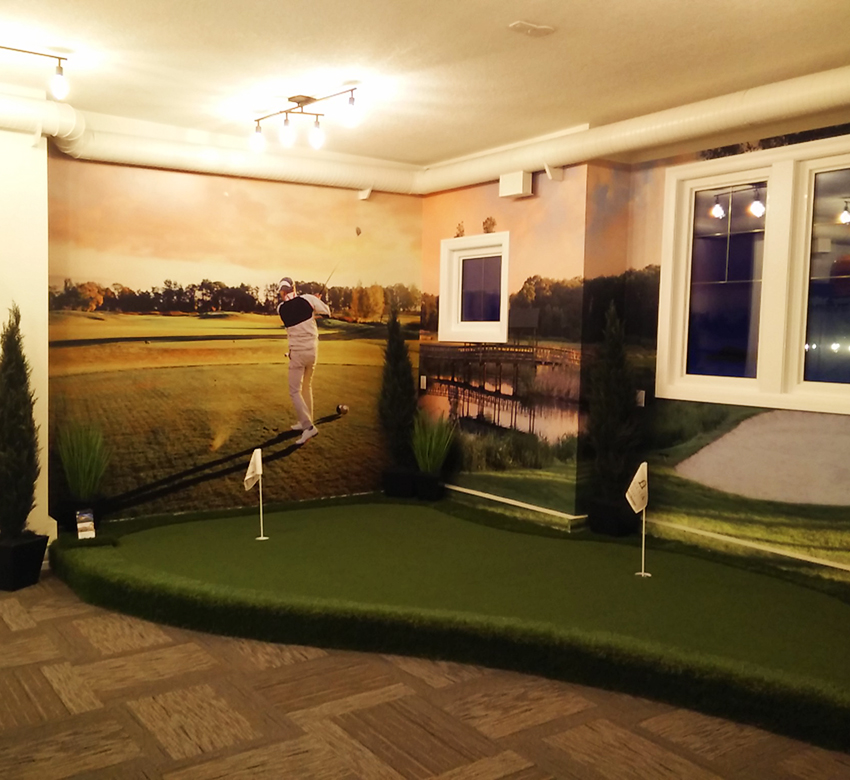 Golf green wall to wall Mural